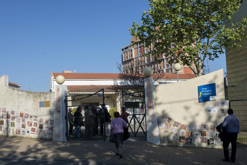 Entrada do Espaço Municipal da Flamenga
