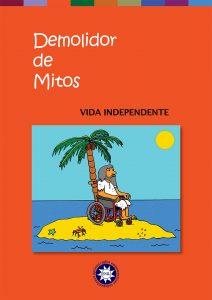 Capa do Demolidor de Mitos com homem barbudo em cadeira de rodas numa mini-ilha com uma palmeira e um caranguejo