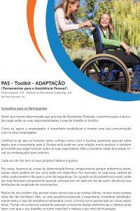 Capa do documento Ferramentas para Assistência Pessoal